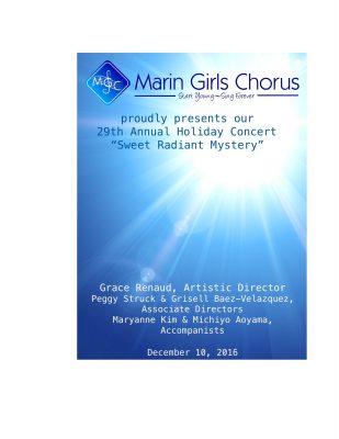 Marin Girls Chorus 29th Annual Holiday Concert