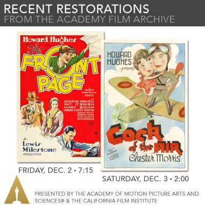 Recent Restorations From The Academy Film Archive