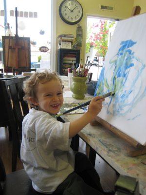Art + Play toddler time: a.m + p.m. M, T, W, Th, or F