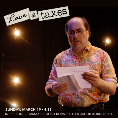 Love & Taxes with Jacob & Josh Kornbluth In Person!