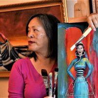 Solo Art Exhibition: Cynthia Tom's Awakening the Feminine at Art Works Downtown, San Rafael