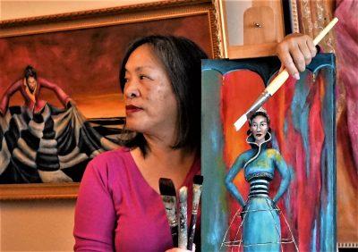 Solo art exhibition cynthia tom s awakening the feminine for Cynthia marin