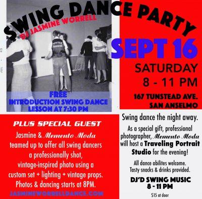 Swing Dance Party + Traveling Portrait Studio! // Sept 16