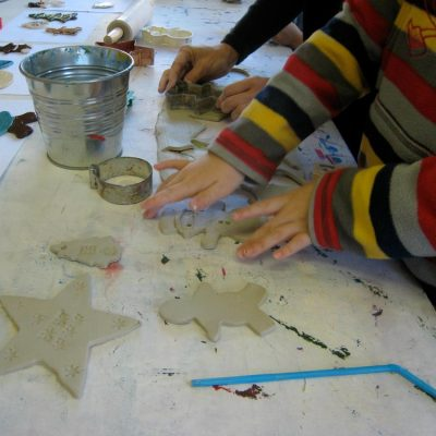 Clay Ornament and Present Tag Making
