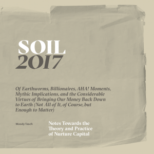 Woody Tasch - Soil: Notes Towards the Theory and Practice of Nurture Capital