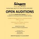 Open Auditions - Winter Gala, Spring/Summer Festivals