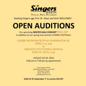 Open Auditions - Winter Gala, Spring/Summer Festiv...
