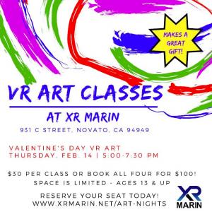 Valentine's Day VR Art Class