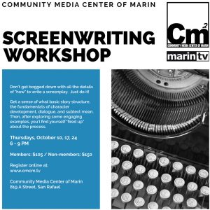 Screenwriting 1,2,3 at Community Media Center of M...