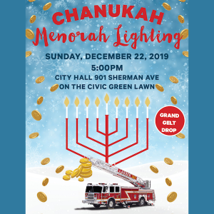 Chanukah Menorah Lighting & Gelt Drop
