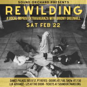 Rewilding: A vocal improv extravaganza with Briony Greenhill