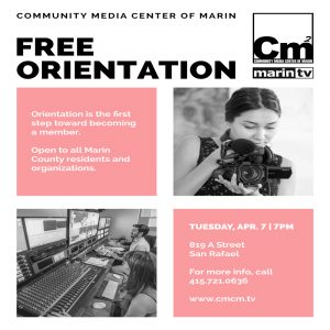 **CANCELLED** Get to know Marin TV – Free Orientation