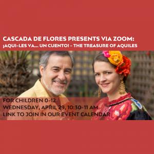 LOCAL>> Cascada de Flores via Zoom
